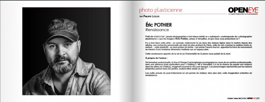 Open Eye publie Eric Pothier